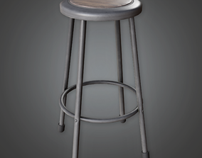 CLA - Science Stool - PBR Game Ready 3D asset