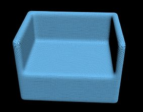 3D asset Single Knitted Sofa