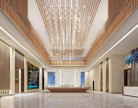 Light luxury style sales office lobby furniture 3D