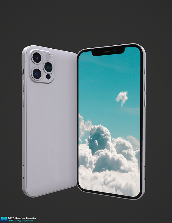 2020 apple iphone 12 pro max pbr game asset