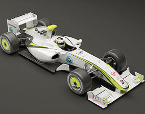 3D model Brawn GP F1 2009 Mental Ray