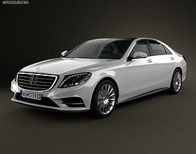 3D model Mercedes-Benz S-Class W222 2014