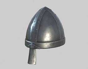 Medieval Norman Helmet 3D asset