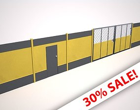 Hoarding Set Construction Site 3D asset