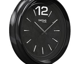 Black-Wall-Clock 3D