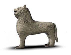 3D asset Ancient stone lion