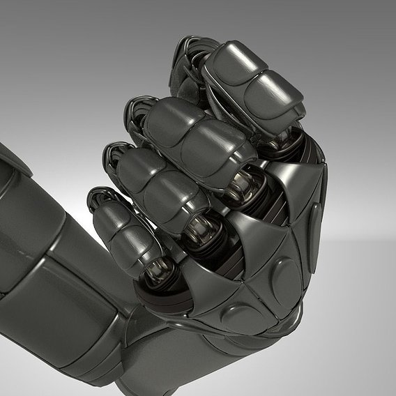 Robot Hand Version 2 Rigged and Animated