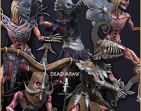 Dead Army 3D asset