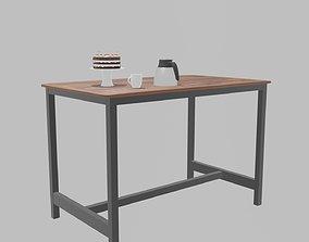 Kitchen Table 3D model VR / AR ready