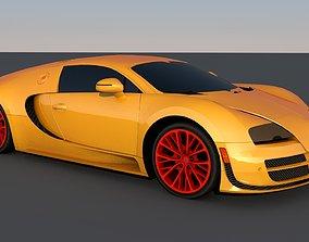 3D Bugatti luxury and racing car
