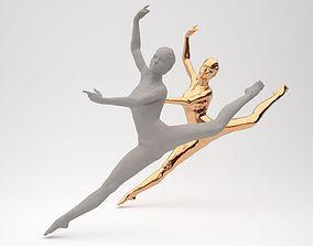 3D print model Girl dancer pendant
