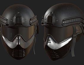 Helmet mask millitary combat soldier armor 3D model