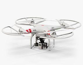 3D asset DJI Phantom 2 Quadcopter with Prop Guard and 1