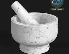 3D Kitchen mortar and pestle