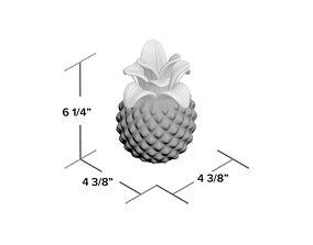 Clear Gisla Glass Pineapple Sculpture 3D