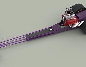 Front engine dragster 3D