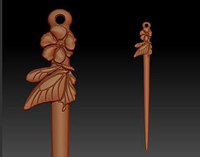 3D print model hairpin
