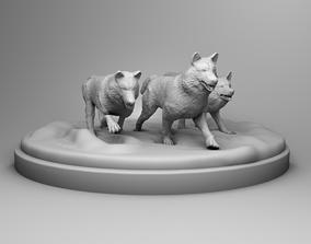 3D print model Wolves