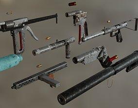 3D model Homemade Guns Pack