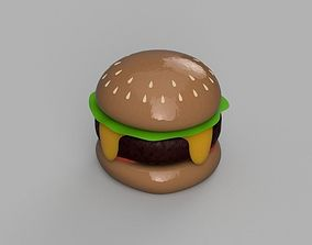 3D printable model Cheeseburger with salad and tomatoes