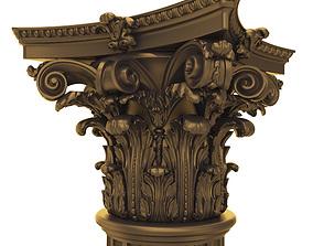 Capital big 3D ornament