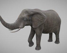 3D model low-poly Elephant