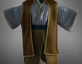 Samurai kimono 3D