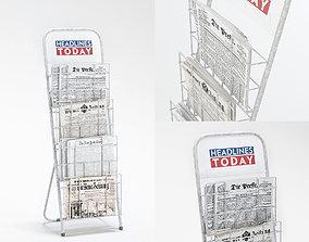newspaper rack 3D