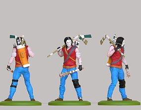 hero of the ninja turtles Casey Jones 3D print model