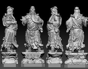 statue Guan Yu 3D