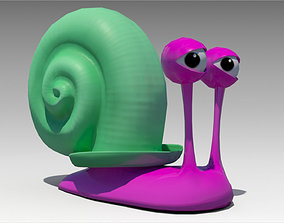 Snail Toon Animated 3D model low-poly