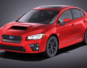 3D model Subaru Impreza WRX 2017 VRAY