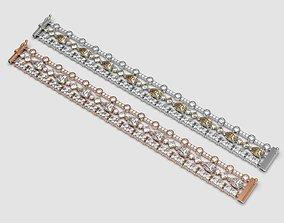 necklace Bracelet with Diamonds 3D printable model