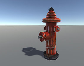 3D model low-poly Fire Hydrant