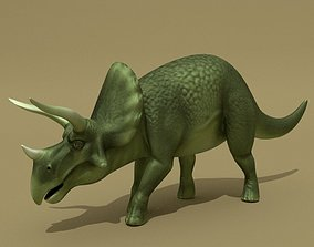 Triceratops Rigged 3D asset