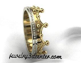 Ring crown 3D print model