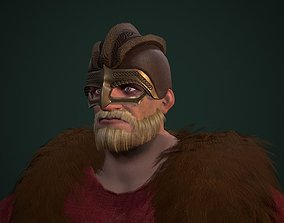 Viking 3D asset game-ready