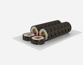 Sushi Roll Sliced 3D asset