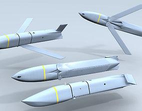 AGM-158 JASSM Missile weapons 3D model