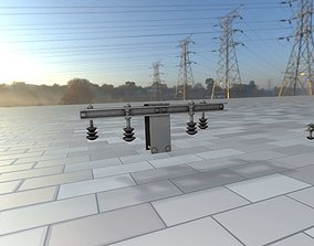 Electricity Poles Insulators 10 - Object 3D model