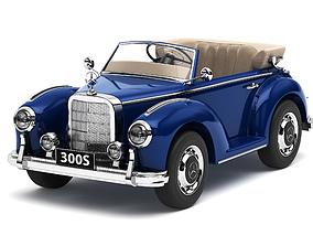 3D model Toy car Mercedes-Benz 300S