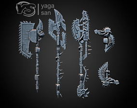 3D print model CSM two handed CHAINSAW Weapons PACK with