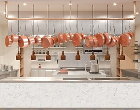 3D Commercial Kitchen interior