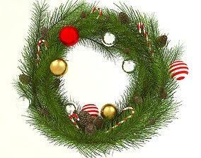 christmas decoration Christmas wreath 3D model