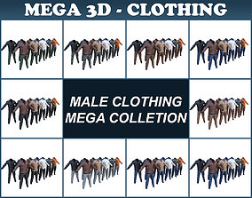 Male Costumes Mega Collection 3D model