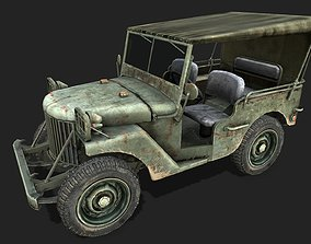 3D asset low-poly PBR Jeep Willys