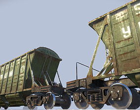 3D model Railway Hopper Car vr1
