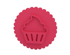 Cookie stamp Stamp 3D printable model kitchen-dining