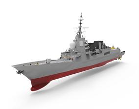 3D model Alvaro de Bazan Class fregate