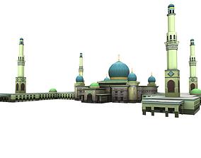 mesjid agung pekanbaru - mosque pekanbaru 3D asset